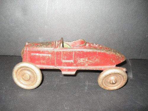 ANTIQUE HUBLEY CAST IRON RACE CAR  ARCADE KENTON