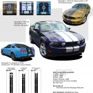 "Ford Mustang 2010 2011 2012 ""STAMPEDE"" Racing and Rally Stripes Kit"