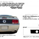 "Ford Mustang 2005 2006 2007 2008 2009 ""BLACKOUT"" Rear Trunk Blackout Stripe Kit"