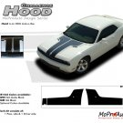 HOOD : Factory OEM Style Vinyl Racing Stripes for 2008 2009 2010 2011 2012 2013 Dodge Challenger