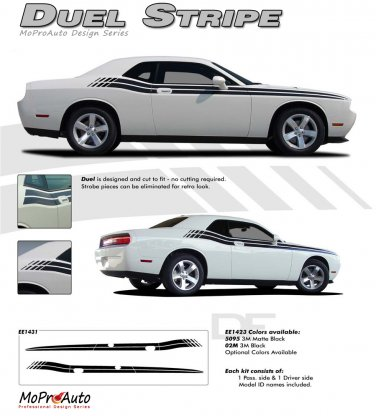 DUAL : Vinyl Graphics and Stripe Kit 2008 2009 2010 2011 2012 2013 Dodge Challenger