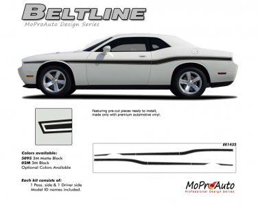 BELTLINE : Vinyl Graphics Kit for 2008 2009 2010 2011 2012 2013 Dodge Challenger