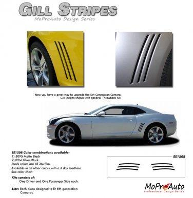 GILL STRIPES : 2010 2011 2012 2013 2014 Camaro Accent Decals Set