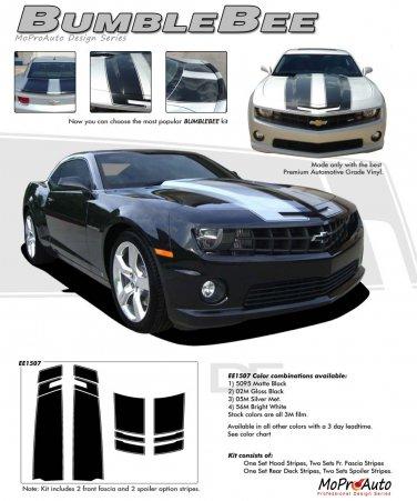 "BUMBLEBEE : 2010 2011 2012 2013 2014 ""OEM Style"" Chevy Camaro Racing Stripes Kit"