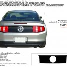 "Ford Mustang 2010 2011 2012 ""DOMINATOR BLACKOUT"" Rear Trunk Decal Graphic and Stripes Kit"