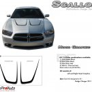 RECHARGE SCALLOP HOOD : Hood Decals Graphics Kit for 2011 2012 2013 2014 Dodge Charger