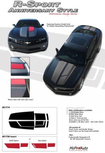 "ANNIVERSARY R-SPORT : 2010 2011 2012 2013 2014 Chevy Camaro ""45th"" Anniversary Style Racing Stripes"