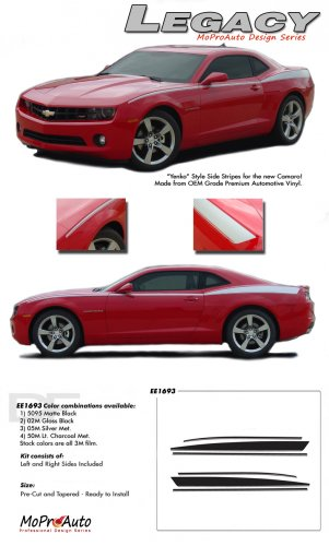 "LEGACY : 2010 2011 2012 2013 2014 Chevy Camaro ""Yenko"" Style Side Stripes"