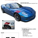 CORVETTE DOUBLE BAR : 2010 2011 2012 Chevy Corvette Hood Hash Marks Racing Decal Stripe Kit