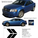 AVENGED DOUBLE BAR : Hash Style Vinyl Graphics Kit for 2008 2009 2010 2011 2012 2013 Dodge Avenger