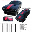 FINISH LINE : Wide Center Vinyl Racing Stripes Graphics Kit fits 2011 2012 2013 Dodge Challenger