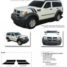 Double Bar : 2007 - 2011 Dodge Nitro Vinyl Graphics Kit