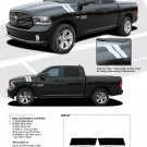 RAM DOUBLE BAR : 2009 2010 2011 2012 2013 Dodge Ram Hood Hash Marks Vinyl Graphics Kit