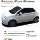 ITALIAN THIN STRIPE : 2011 2012 2013 Fiat 500 Vinyl Graphics Kit