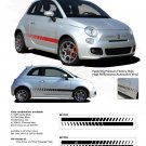 SE 5 ROCKER STROBES : 2011 2012 2013 Fiat 500 Vinyl Graphics Kit