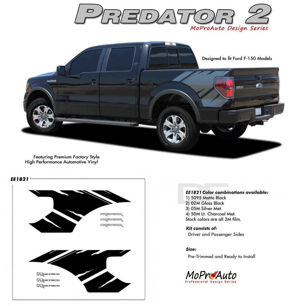 "PREDATOR 2 : Ford F-150 ""Raptor"" Style Vinyl Graphics Decals Kit 2009 2010 2011 2012 2013 Models"