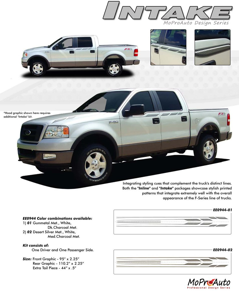 INTAKE : Ford F-Series Vinyl Graphics and Decals Kits