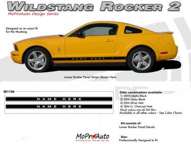 Mustang WILDSTANG ROCKER 2 : 2005-2014 Ford Mustang Rocker Panel Stripes
