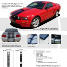 Mustang WILDSTANG S-500 : Vinyl Racing Stripe Kit for 2005-2009 Ford Mustang GT