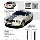 Mustang WILDSTANG S-V61 : Vinyl Racing Stripe Kit for 2005-2009 Ford Mustang V6