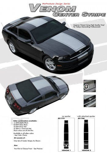 VENOM : 2013-2014 Ford Mustang Racing and Rally Stripes Vinyl Graphics Kit
