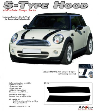 S-TYPE HOOD : Mini Cooper Vinyl Graphics Kit