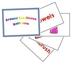 Around the house - Bathroom Flash Cards 1