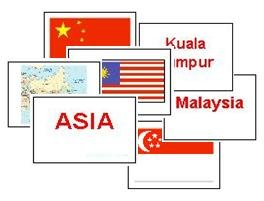 Asian Countries Flash Cards