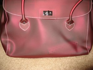 JOAN RIVERS CLASSICS red metallic handbag purse