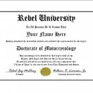 Diploma for Honda REBEL motorcycle owner