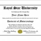 Diploma for Yamaha ROYAL STAR motorcycle owner