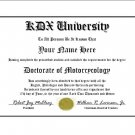 Diploma for Kawasaki KDX motorcycle owner