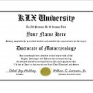 Diploma for Kawasaki KLX motorcycle owner