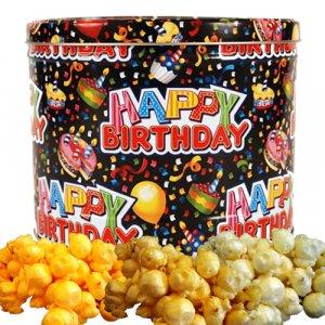 Popcorn Gift Tin - 2 gal (Happy Birthday)