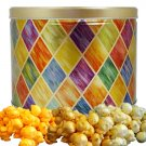 Popcorn Gift Tin - 2 gal (Diamonds)