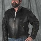 Mens Naked Vented Leather Motorcycle Jacket