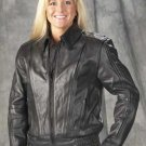 Ladies Naked Leather Vented Motorcycle Jacket