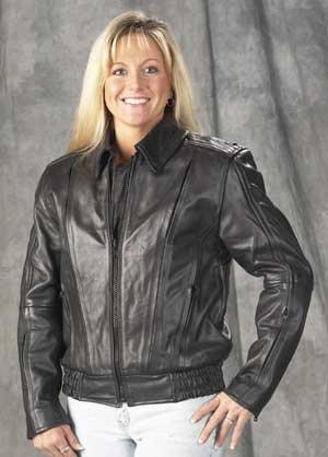 Ladies Naked Leather Vented Motorcycle Jacket