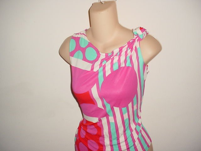 Pucci style blouse top  size large