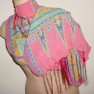 long Sari style shawl or scarf with fringe