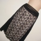 NEW MAX STUDIO BLACK LACE GOTHIC SKIRT   NWT