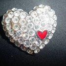 NEW SHAKIRA CAINE HEART PIN BROOCH PENDANT