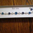 Liz & Co blue bracelet earrings set jewelry NEW NIB