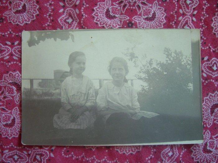 SALE** Vintage Photographic Postcard- 2 Sisters