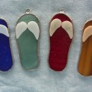 Tropical wedding favors stained glass flip flops set of 4