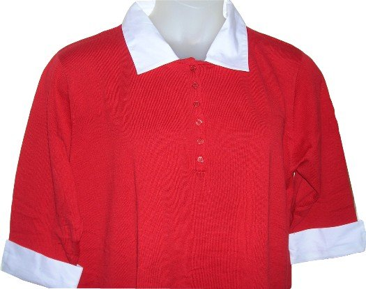 NEW .. Short Sleeve Mock Layer Red Sweater .. 22 . 2X