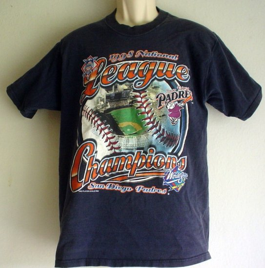 Vintage 1998 tee shirt Padres Baseball  League Champs Medium