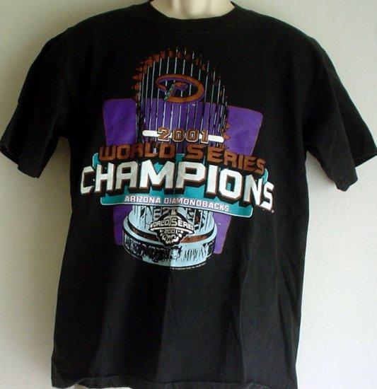 Vintage tee shirt 2001 Arizona Diamondbacks World Series baseball champs Medium