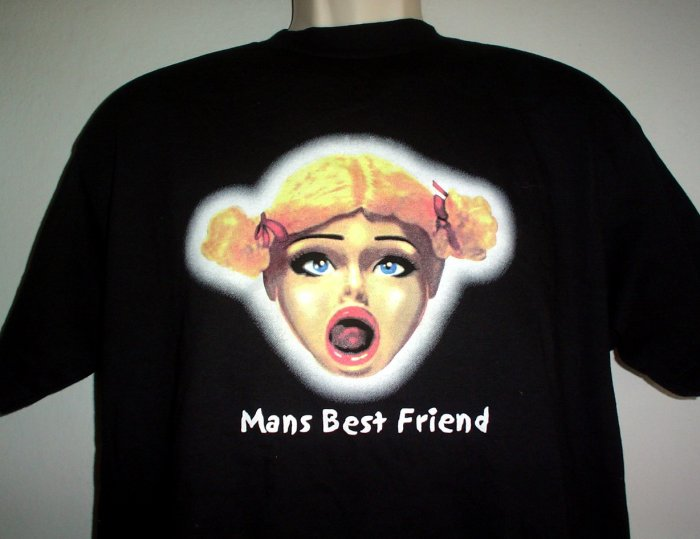 Tee shirt  MANS BEST FRIEND  love doll Medium M