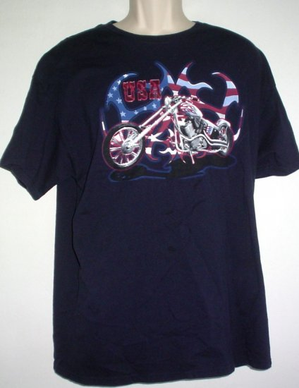 USA chopper motorcycle tee XL